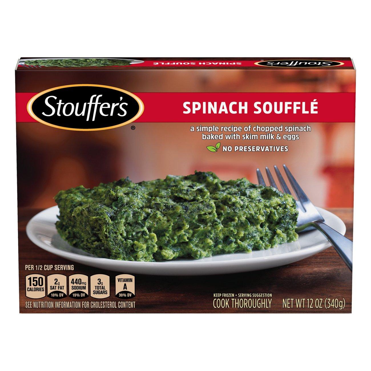 stouffer's craveable recipes spinach souffle ‑ shop single meals