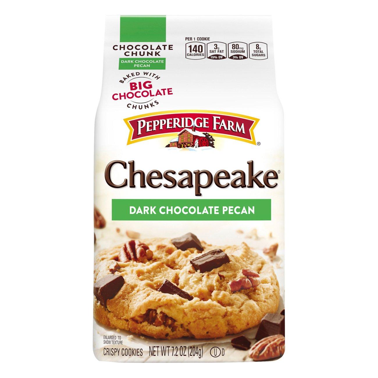 Pepperidge Farm Chesapeake Dark Chocolate Pecan Crispy Cookies Shop Cookies At H E B