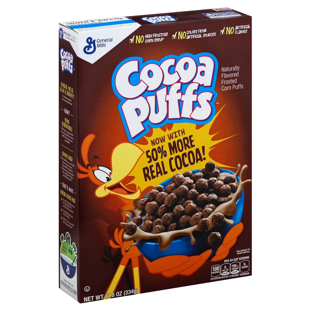 Review: Cocoa Puffs (Now With 50% More Real Cocoa) |Cocoa Puffs Cereal