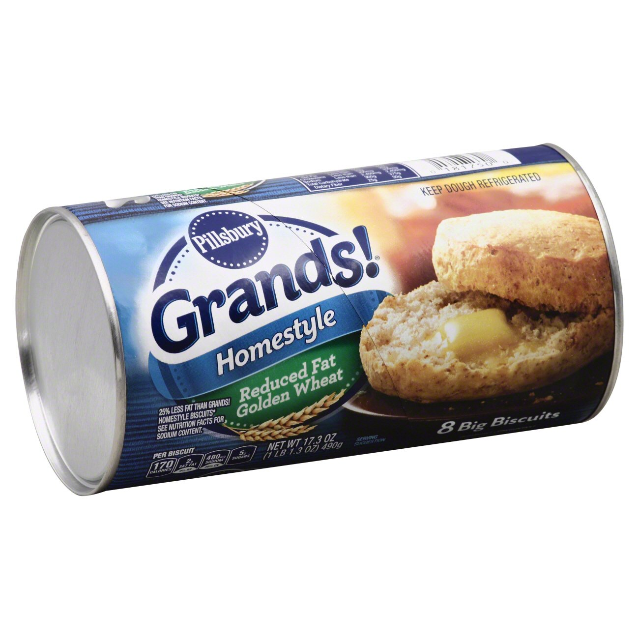 Pillsbury Grands Big Homestyle Reduced Fat Golden Wheat Biscuits