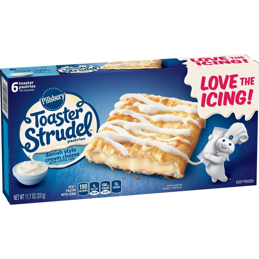 Pillsbury Toaster Strudel Danish Style Cream Cheese Pastries