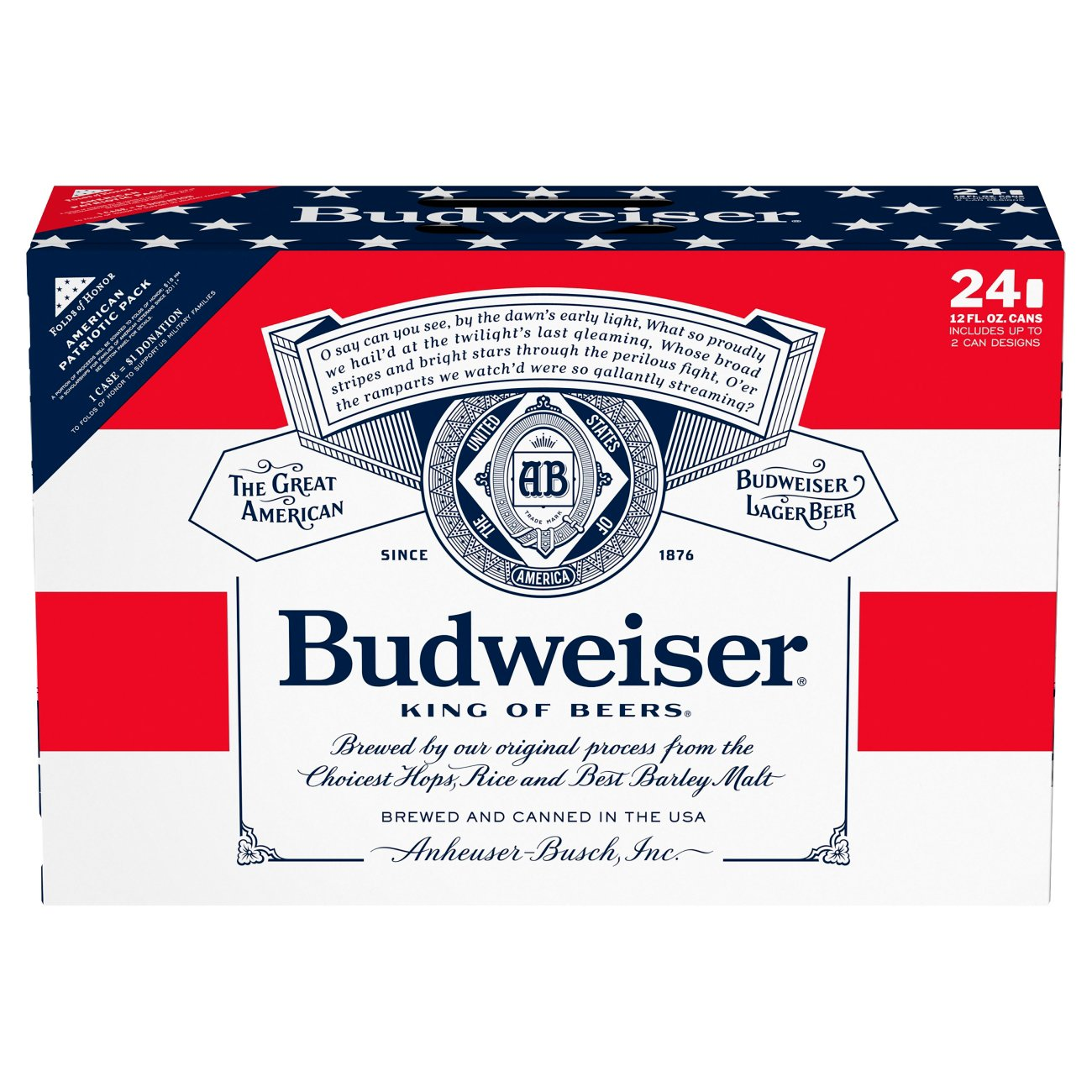 Budweiser Beer 24 PK Cans Shop Domestic Beer at HEB