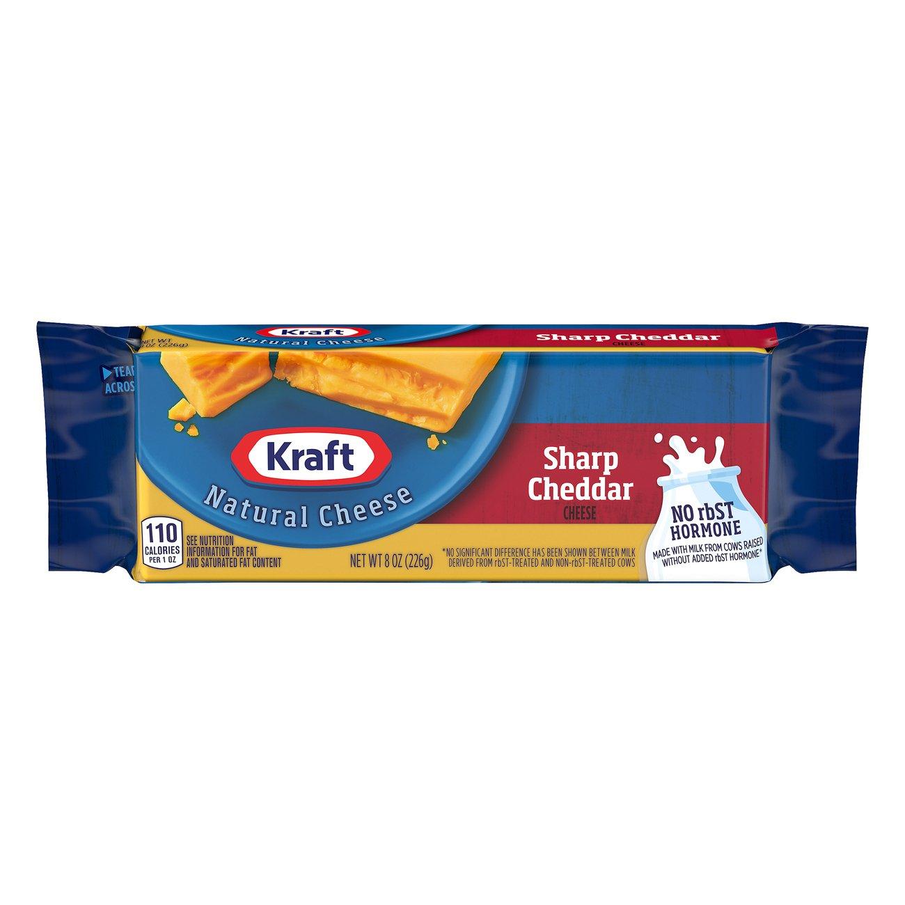 Kraft Natural Sharp Cheddar Cheese Shop At H E B
