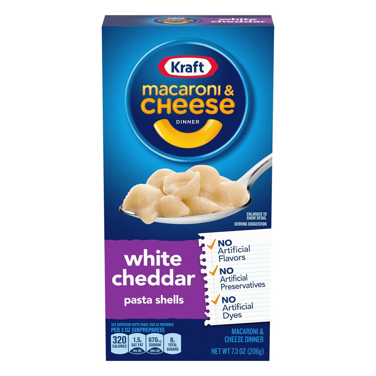 Kraft White Cheddar Pasta Shells