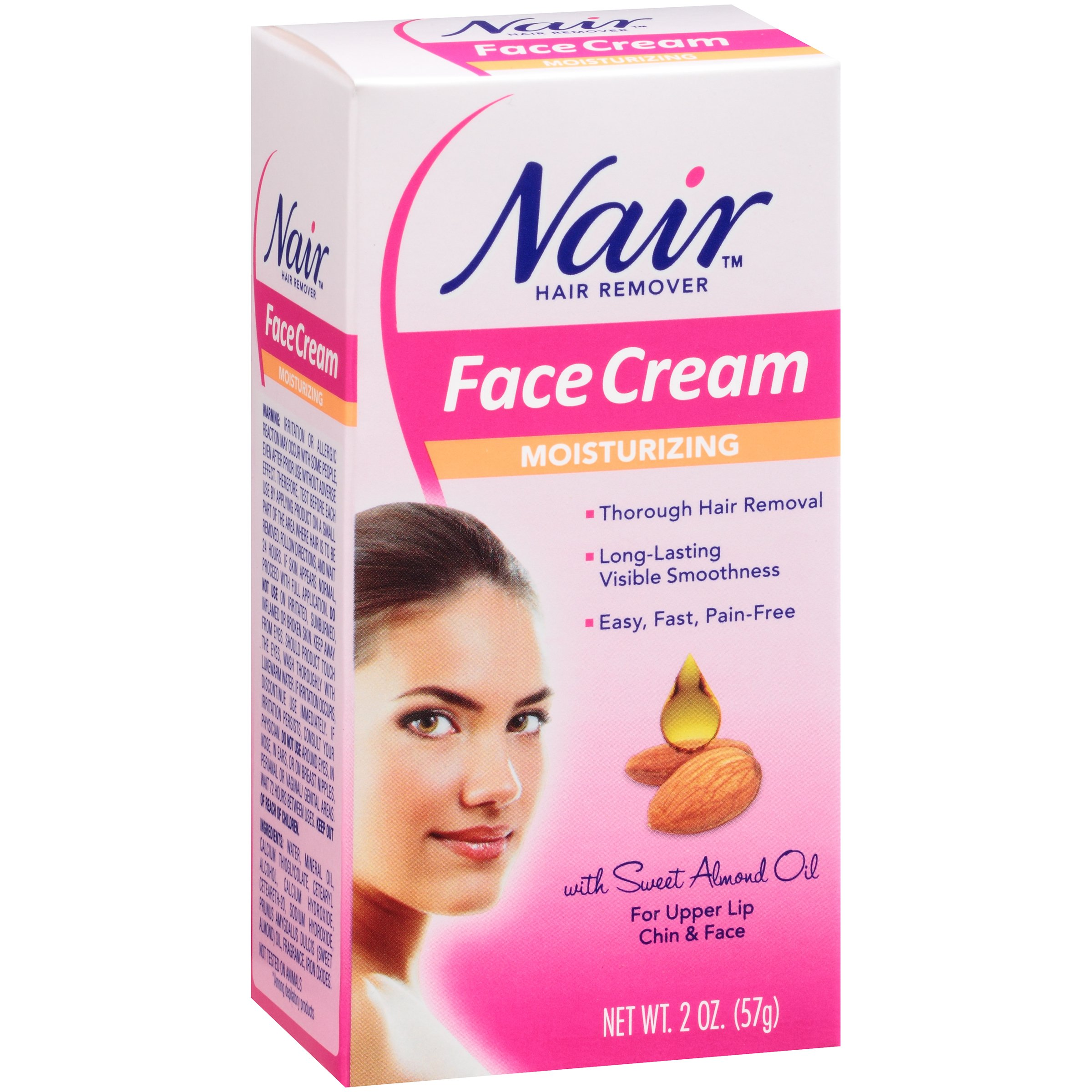 Nair Moisturizing Face Cream Hair Remover Shop Depilatories