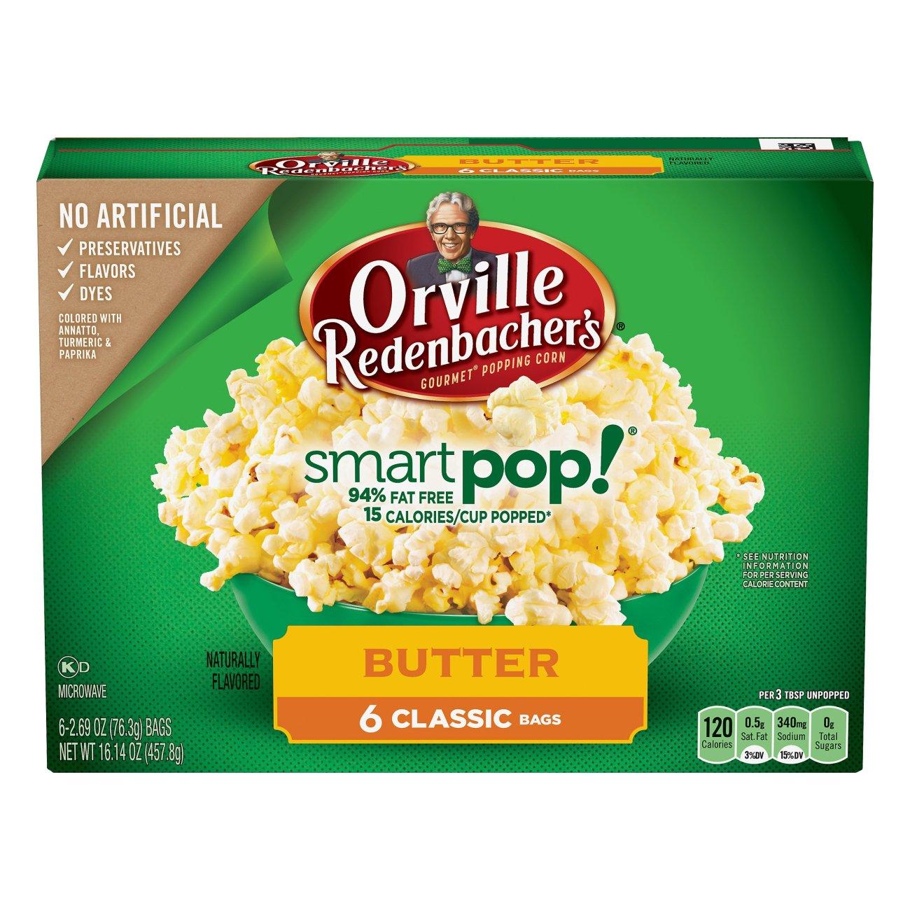 Smart Pop! Butter Microwave Popcorn