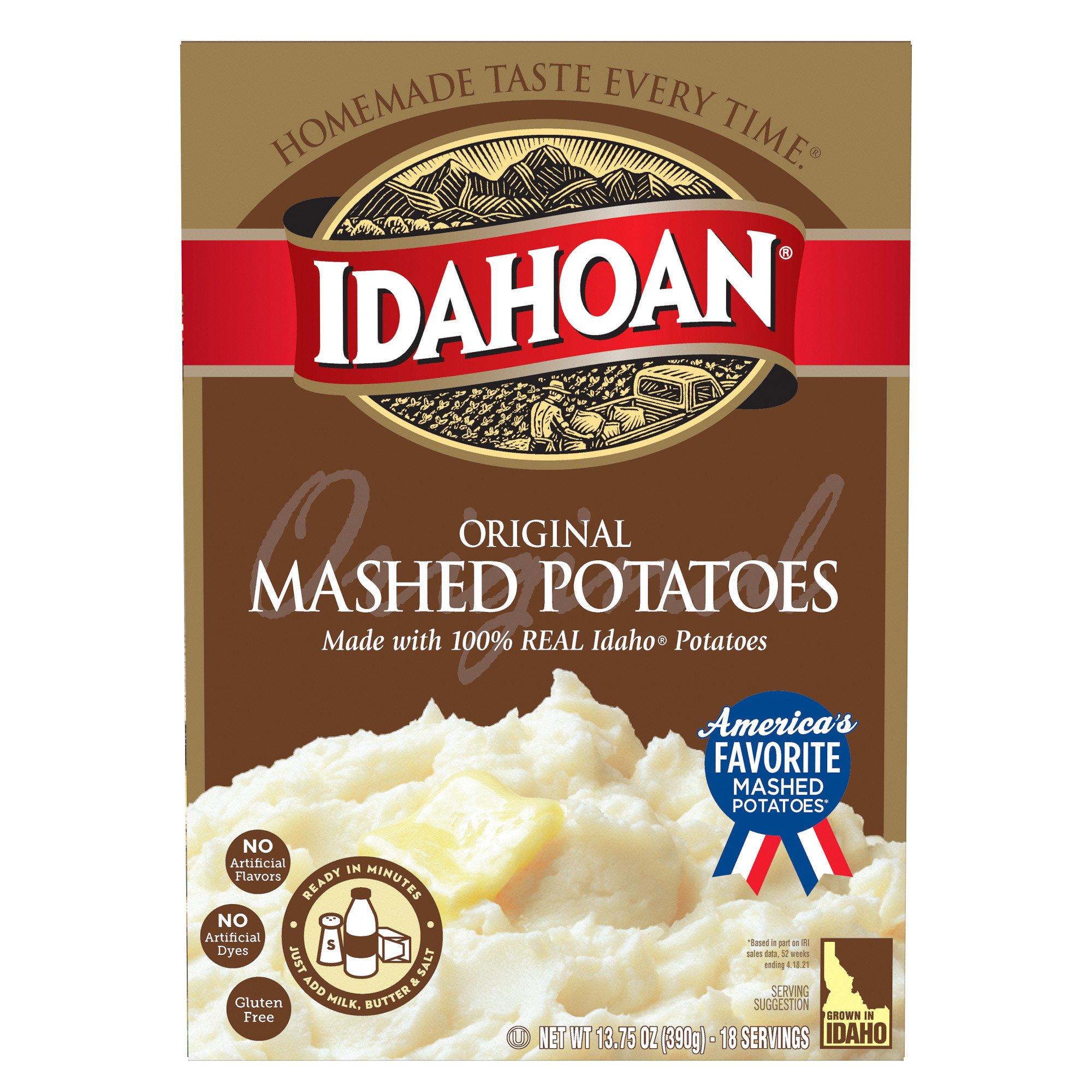 Idahoan Instant Mashed Potatoes on box of instant potatoes, instant red potatoes, idahoan instant potatoes coupons, idahoan instant potato cups, herbed potatoes, baked potato, lyonnaise potatoes, trader joe's roasted potatoes, duchess potatoes, idahoan baked potatoes, ore-ida frozen potatoes, bangers and mash, idahoan instant potatoes directions, printable coupons for idahoan potatoes, yukon gold potatoes, slow cooker breakfast potatoes, pumpkin pie, potato chip, butter herb potatoes, shepherd's pie, boxed potatoes, pecan pie, wada farms potatoes, apple sauce, idahoan instant potatoes nutrition, walmart instant potatoes, olivier salad, idahoan hash brown potatoes, pommes dauphine, potato scone, green bean casserole, potato salad, apple pie, potato bread, russet burbank, make your own instant potatoes, bag potatoes,