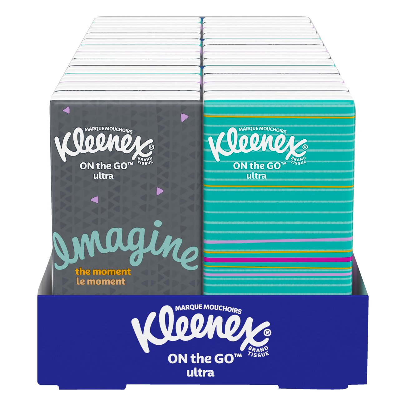 Marque H Et H kleenex on-the-go facial tissue pocket packs - shop facial