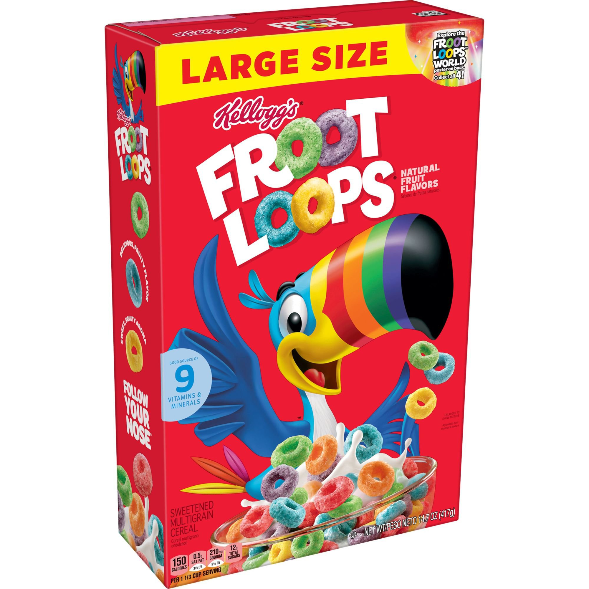 Kellogg's Froot Loops Cereal And Milk Bars