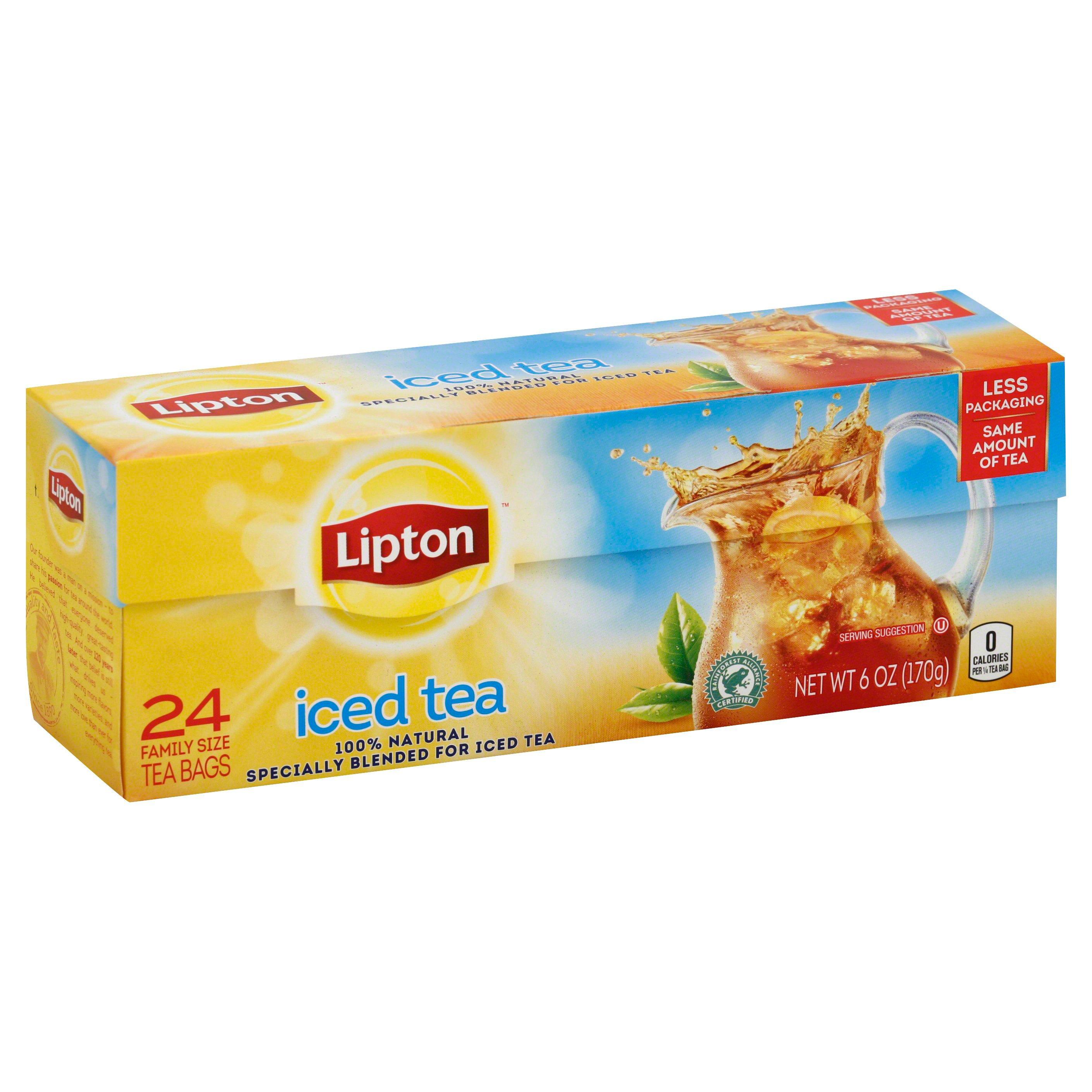 Lipton Black Iced Tea Bags Family-Sized
