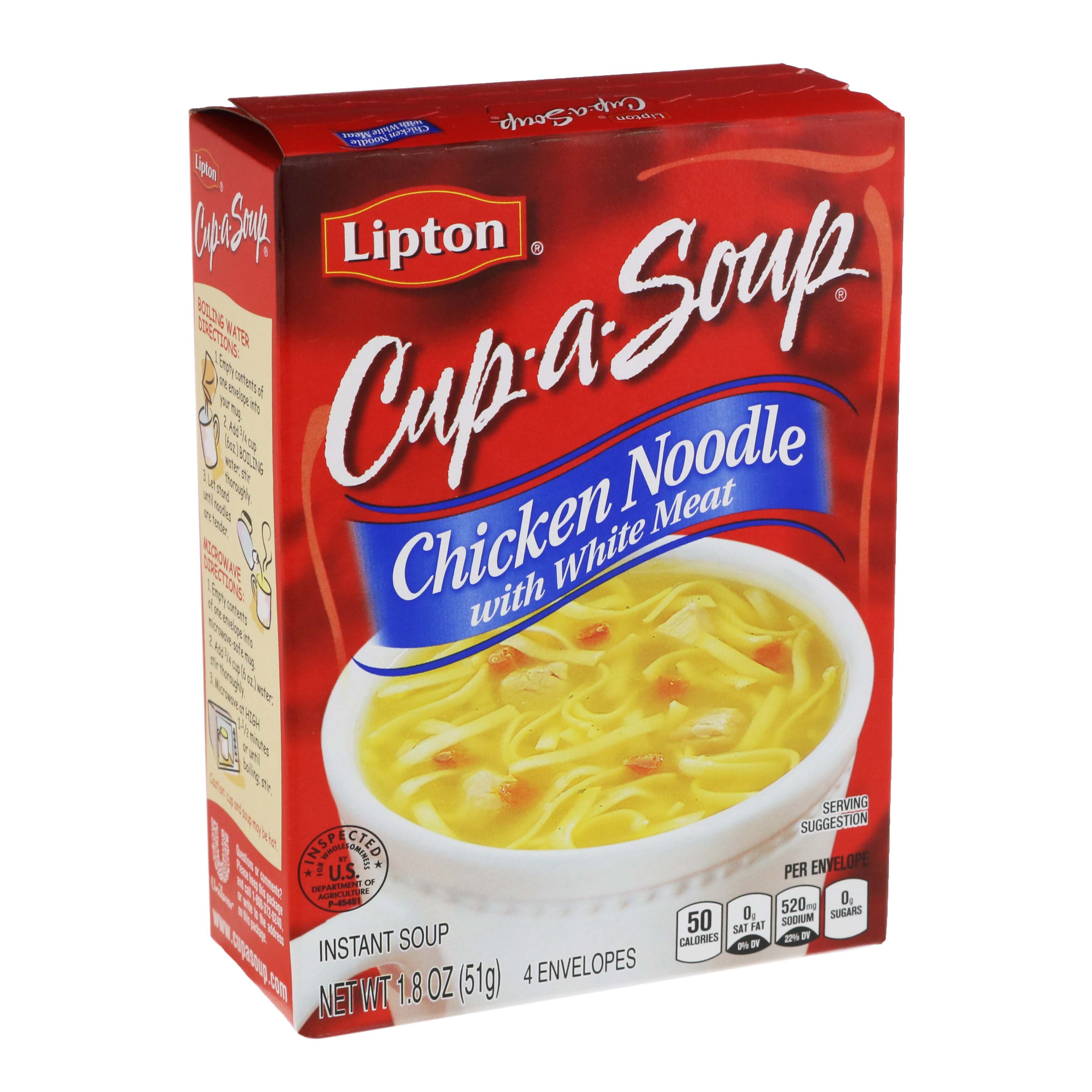 The Lipton Cup-a-Soup Instant Soup Mix Chicken Noodle with Meat