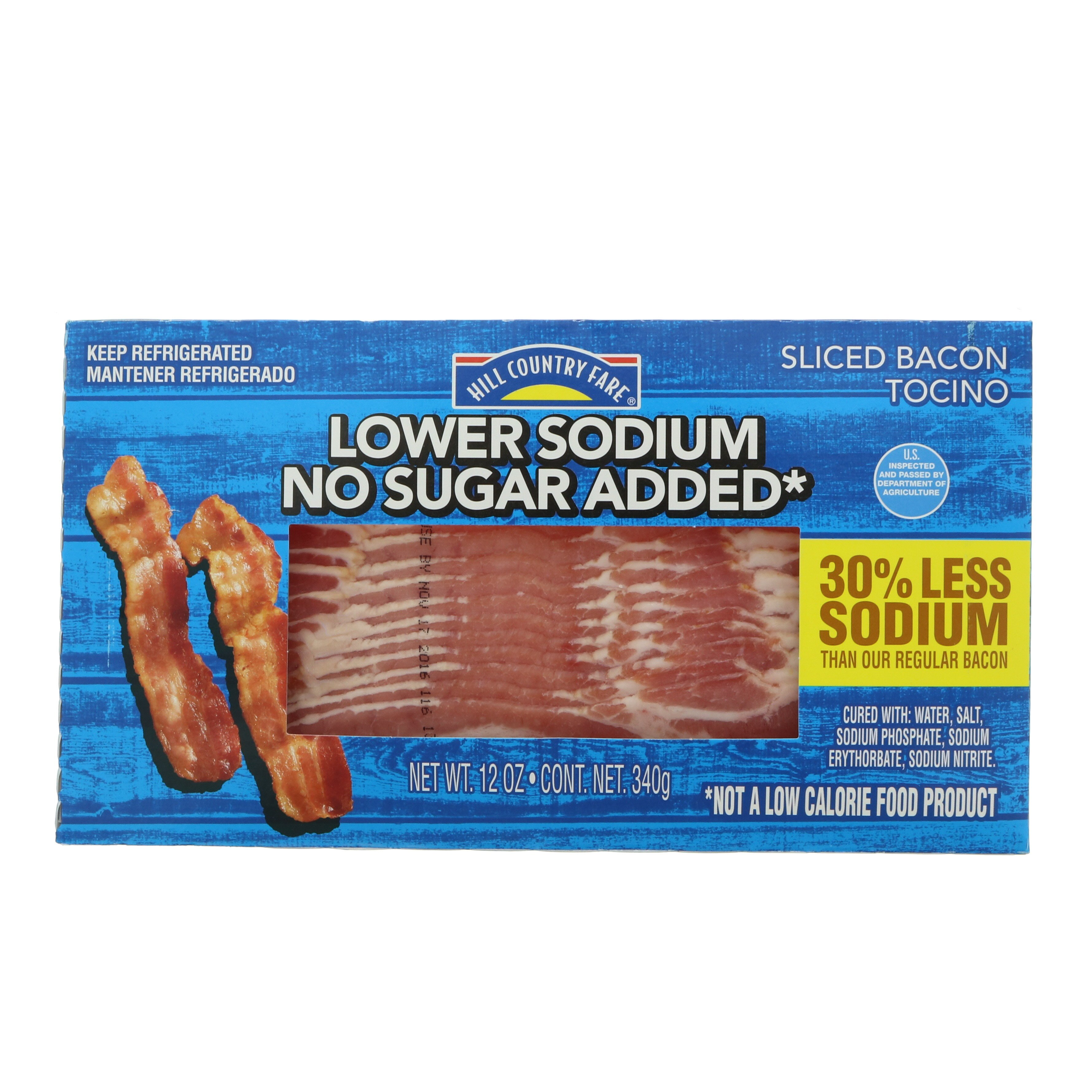low sodium low fat diet bacon