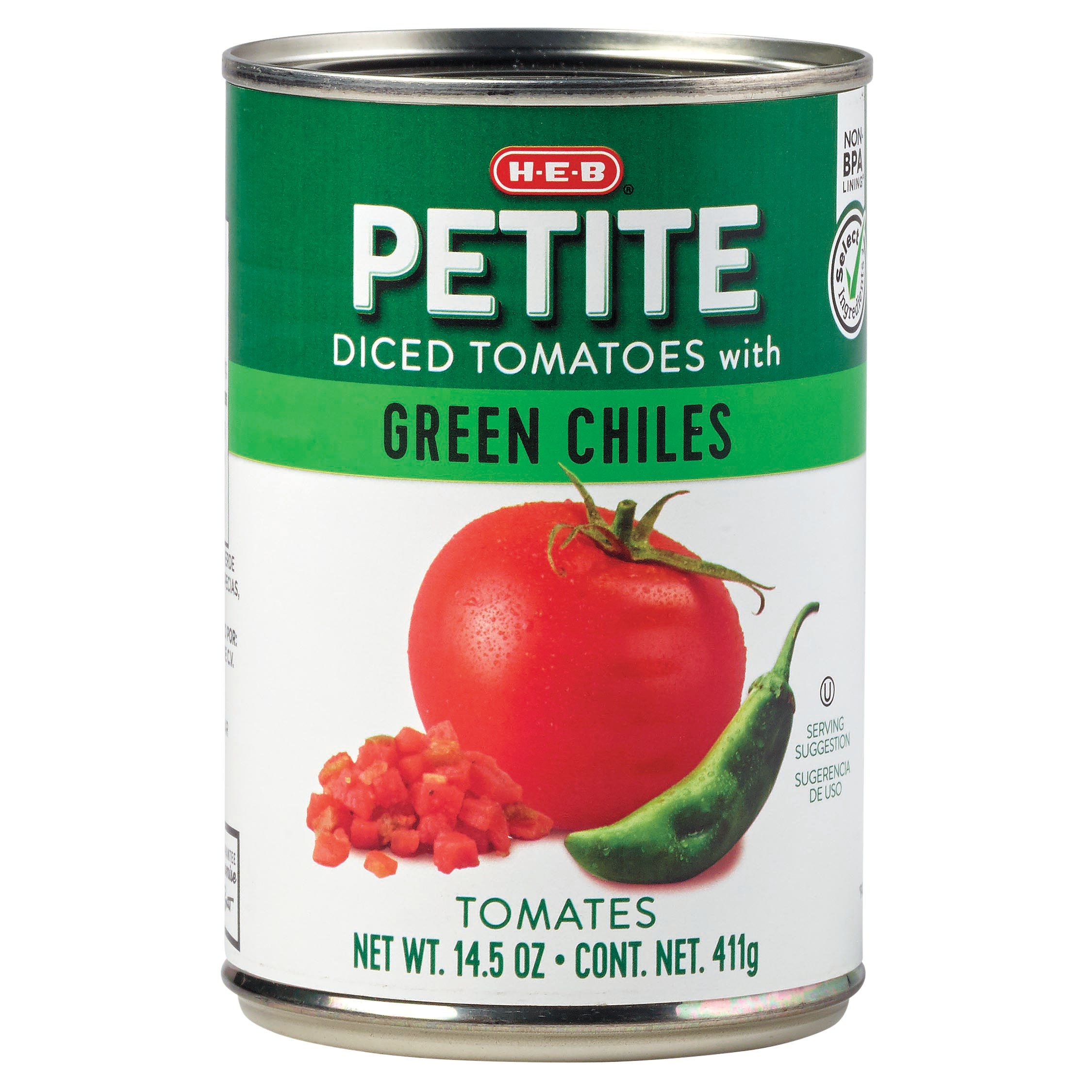 H E B Diced Tomatoes With Green Chilies Shop Vegetables At H E B