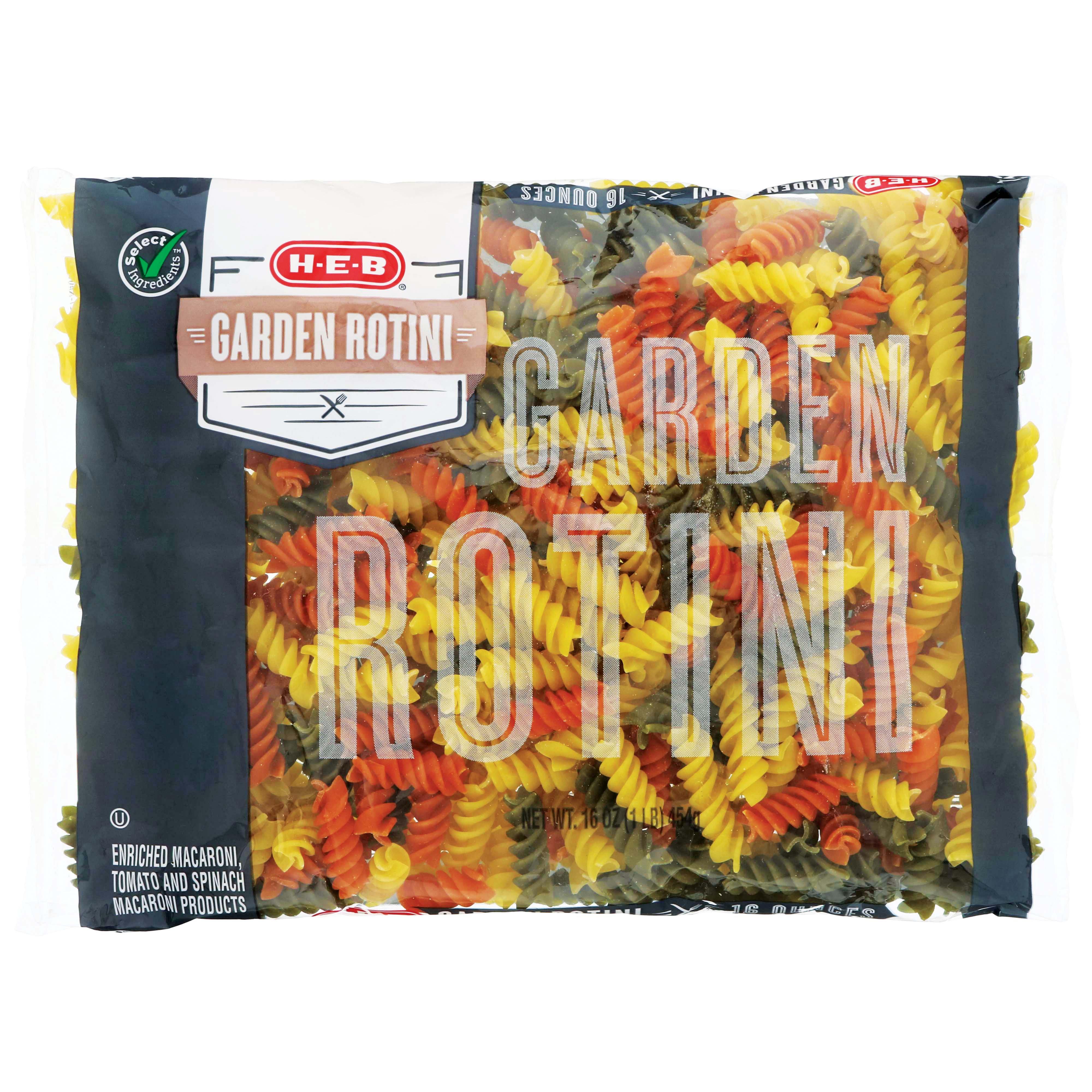 H‑E‑B Select Ingredients Garden Rotini ‑ Shop Pasta at HEB