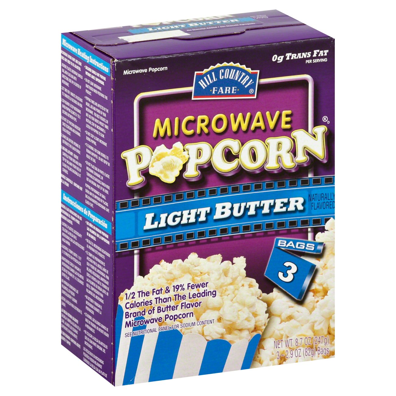 Hill Country Fare Light Er Microwave Popcorn And Rice Cakes At Heb