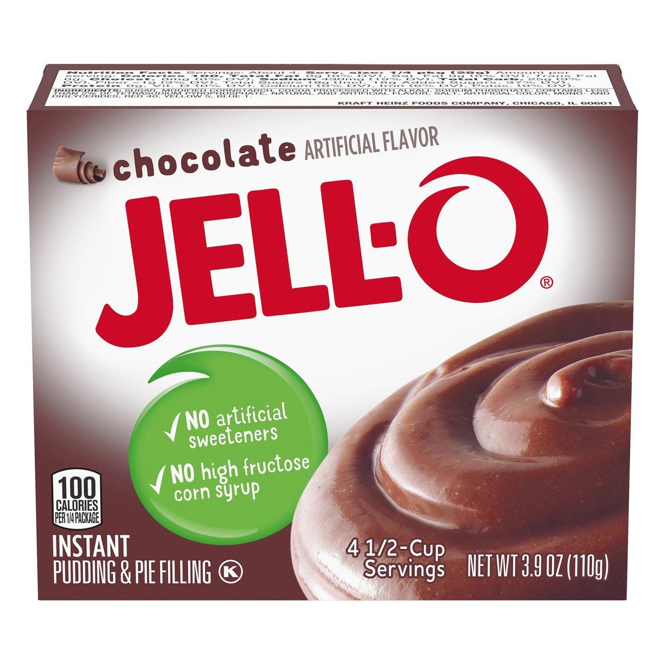 Jell O Chocolate Instant Pudding Mix Shop Pudding Gelatin Mix At H E B