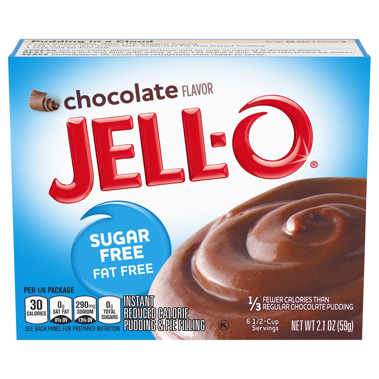 Jell O Sugar Free Chocolate Instant Pudding Mix Shop Pudding Gelatin Mix At H E B