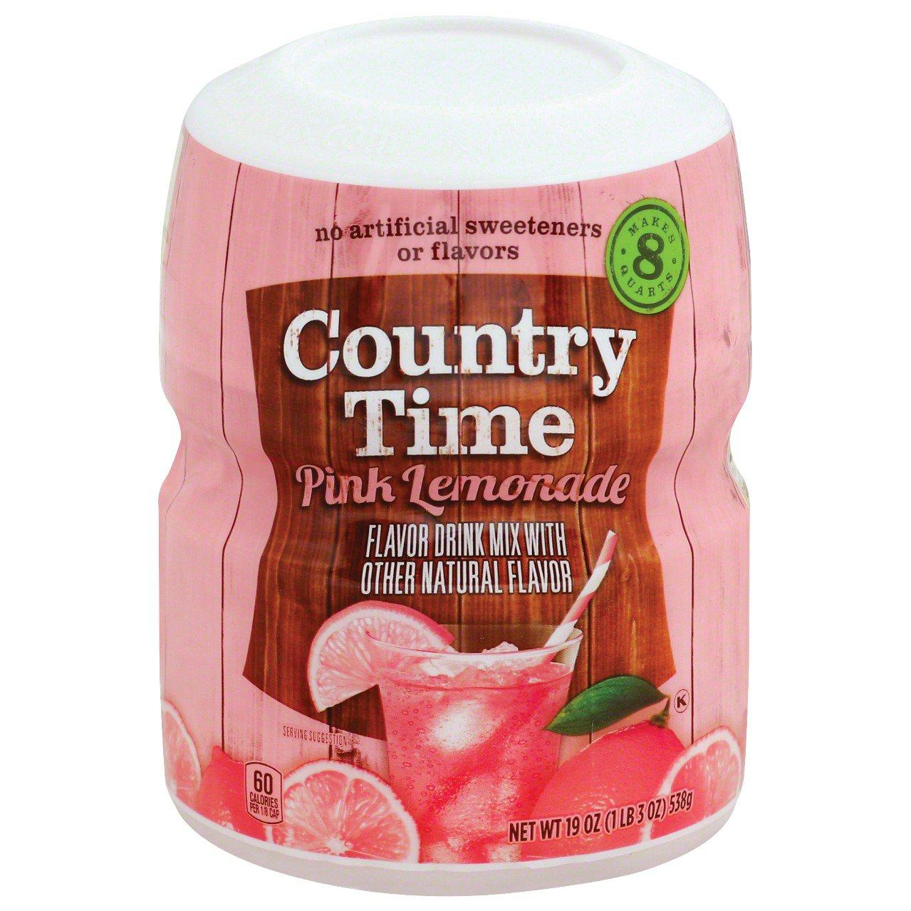 Country Time Pink Lemonade Drink Mix Shop Mixes Flavor Enhancers At H E B