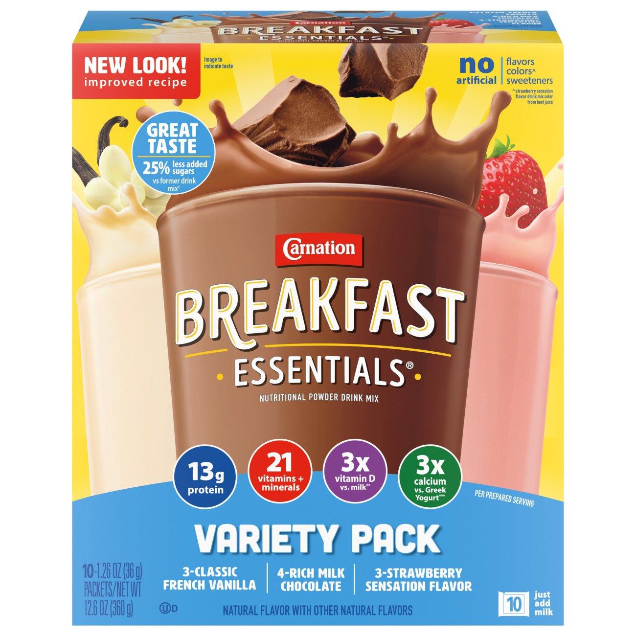 Carnation Breakfast Essentials Variety