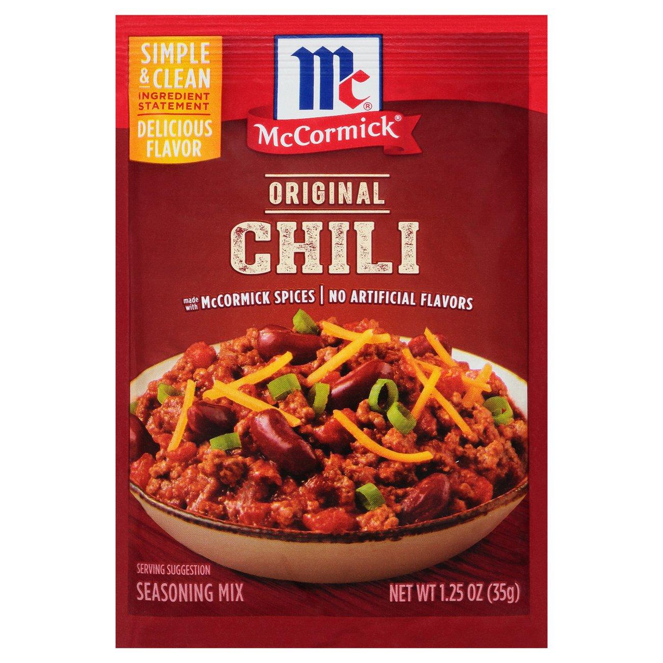 Mccormick Chili Seasoning Mix Shop Spice Mixes At H E B