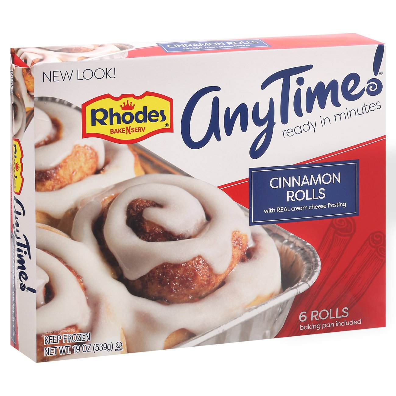 Rhodes Bake N Serv Cinnamon Rolls With Cream Cheese Frosting