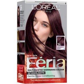 L Oreal Paris Feria 36 Warmer Deep Burgundy Brown Permanent Haircolour Gel Hair Color At Heb