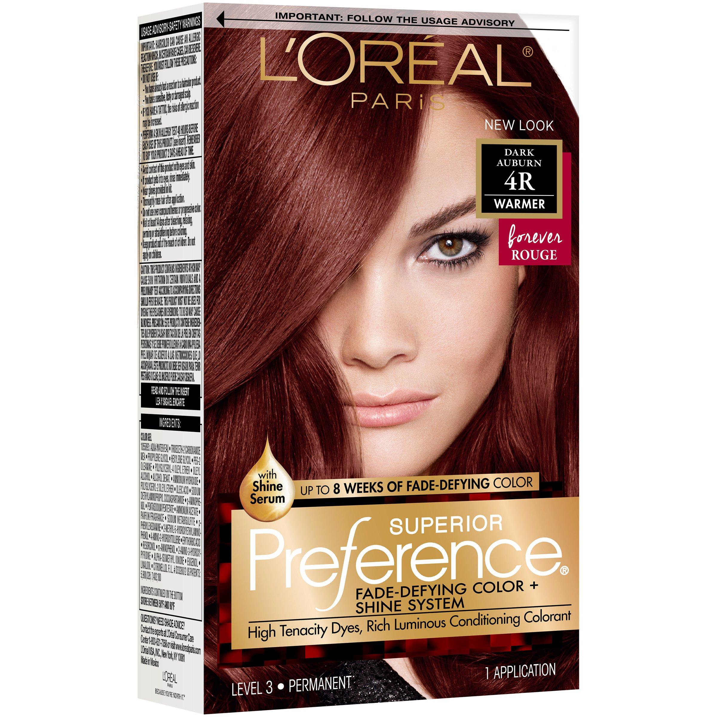 L'Oreal Paris Superior Preference Permanent Hair Color, 9R Dark Auburn