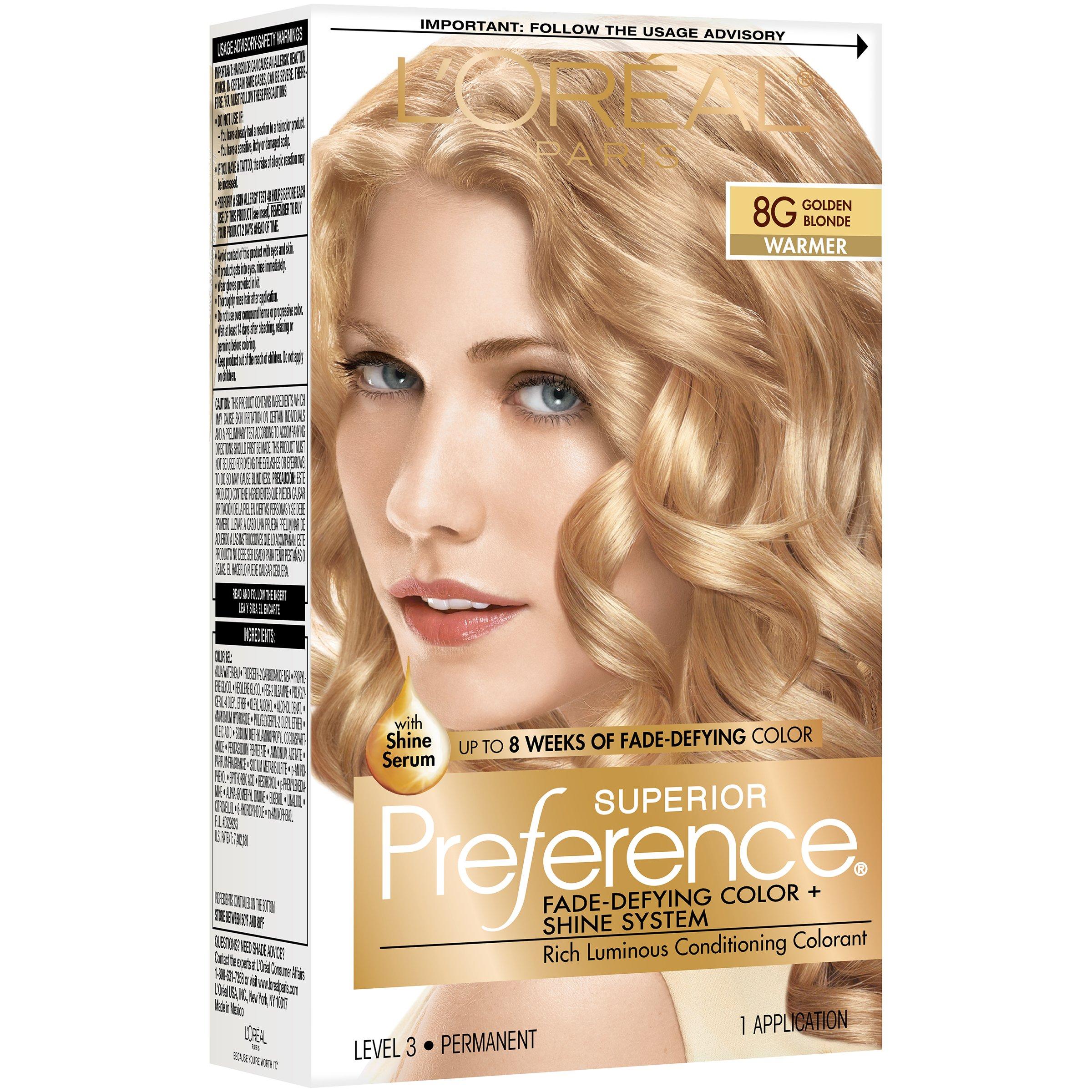 L Oreal Paris Superior Preference Permanent Hair Color 8g Golden Blonde Shop Hair Color At H E B