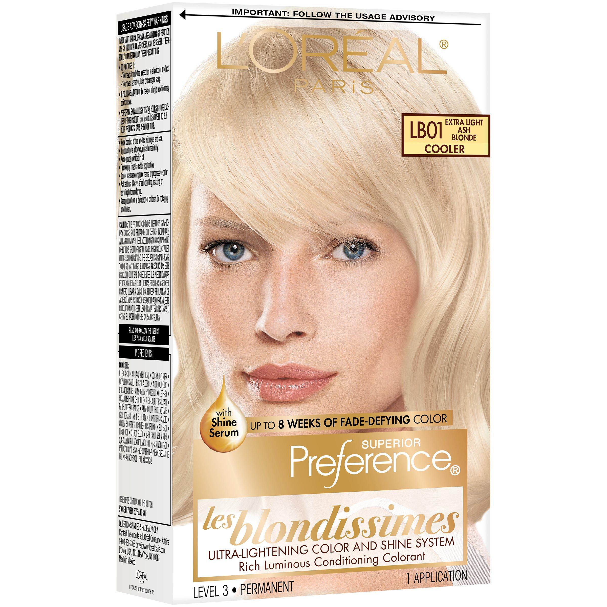 L Oreal Paris Superior Preference Permanent Hair Color Lb01 Extra Light Ash Blonde Shop Hair Color At H E B