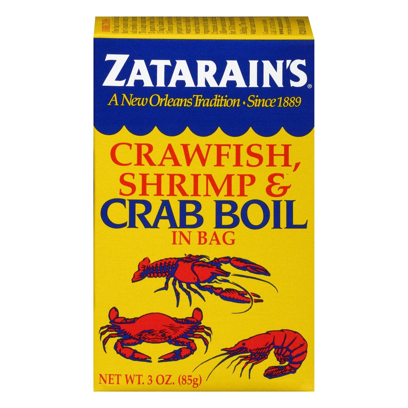 Zatarain S Crawfish Shrimp Crab Boil In Bag Shop Spice Mixes
