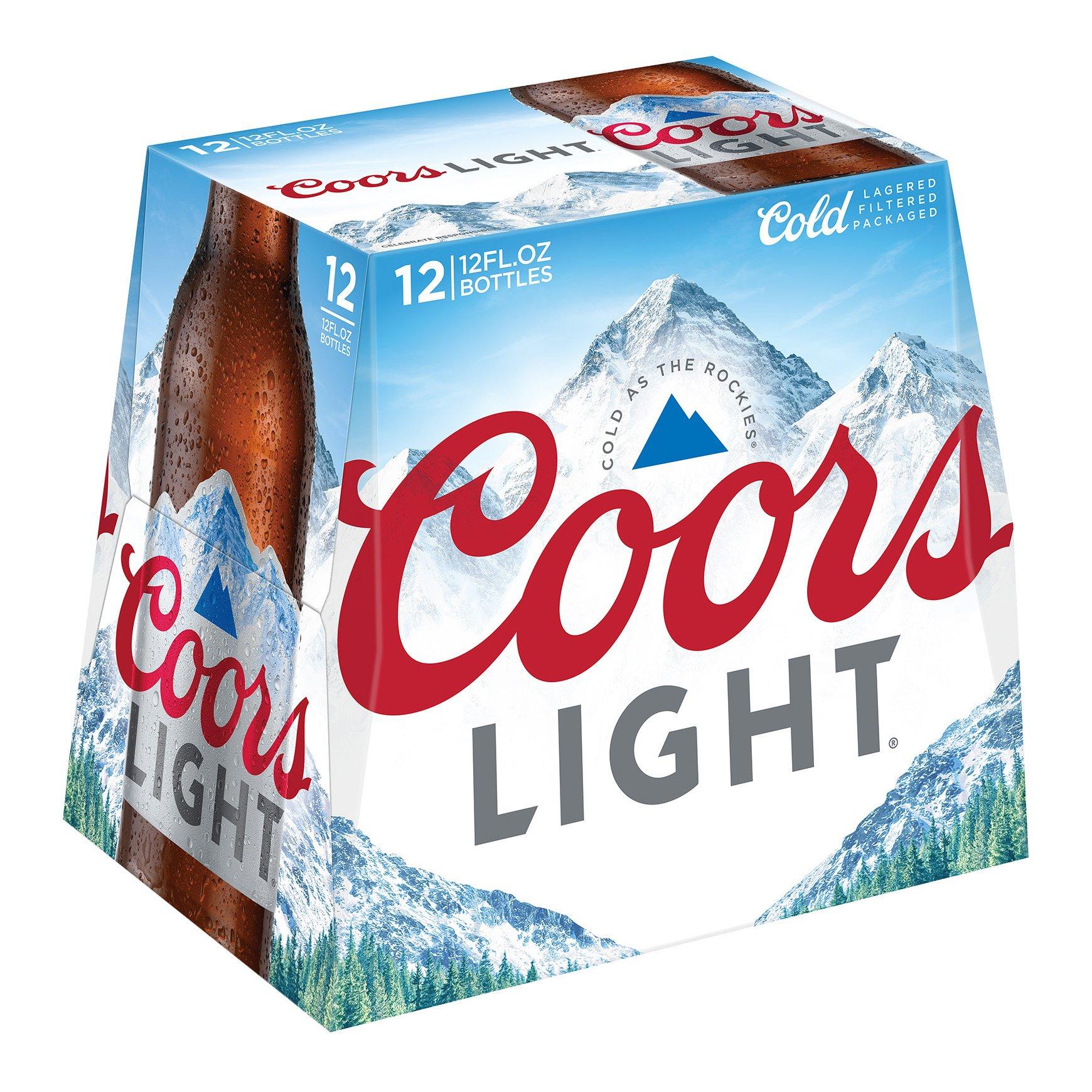 Coors Light Beer 12 Oz Longneck Bottles Shop Beer At H E B