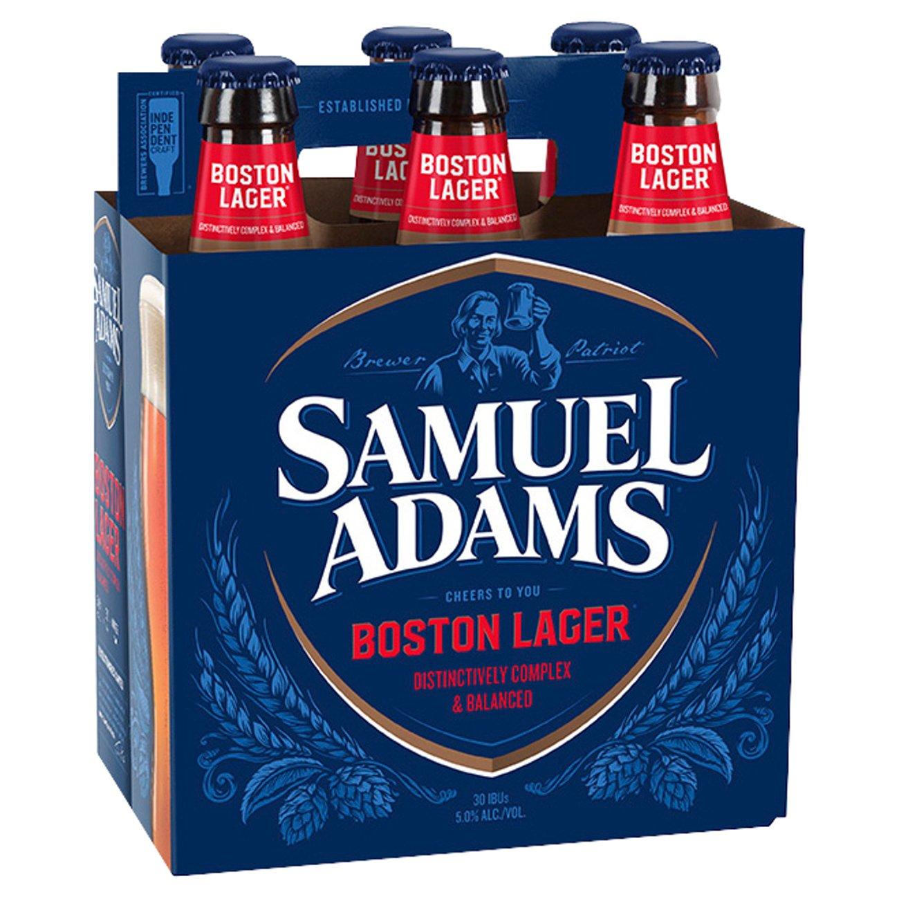 Samuel Adams Boston Lager Beer 12 oz Bottles - Shop Beer at H-E-B