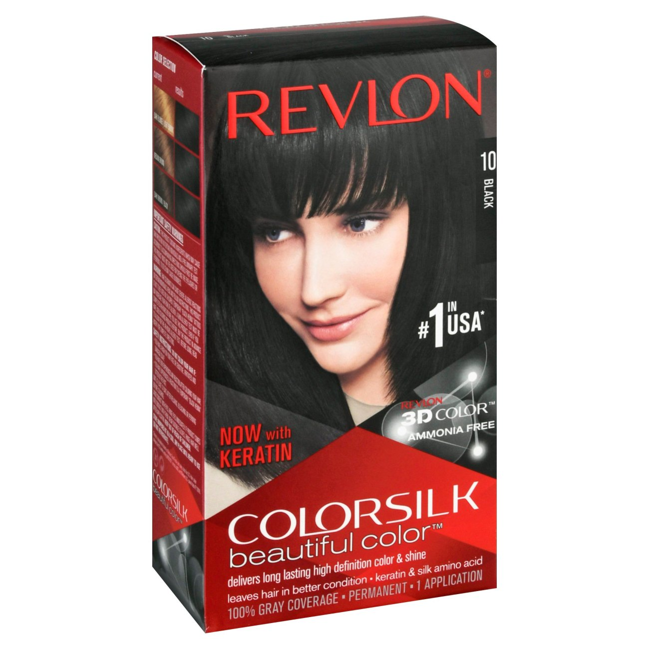 Revlon Colorsilk Beautiful Color 10 Black Shop Hair Color At Heb