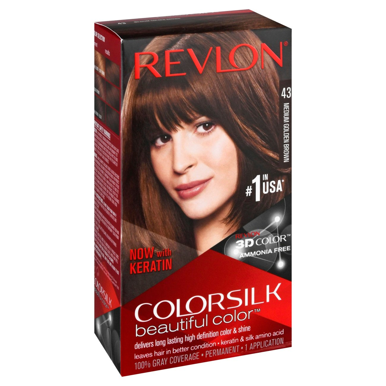 Revlon Colorsilk Beautiful Color 43 Medium Golden Brown Shop Hair