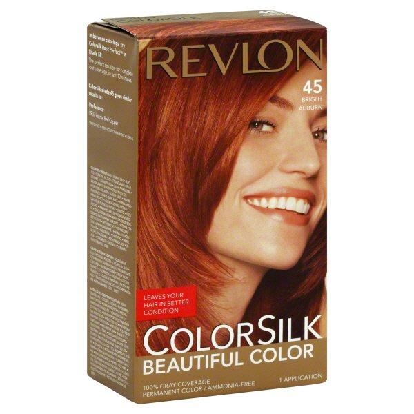 Revlon Colorsilk Beautiful Color 45 Bright Auburn Shop Hair Color