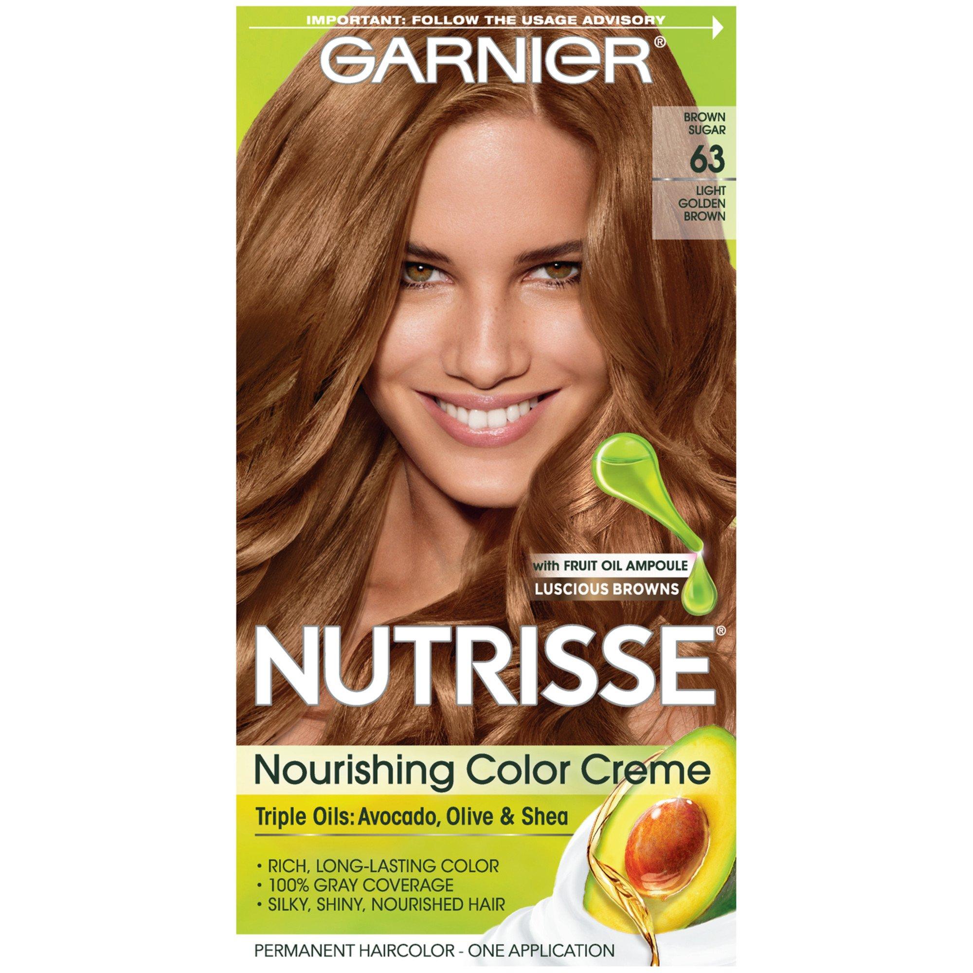 Garnier Nutrisse Nourishing Color Creme 63 Light Golden Brown Brown