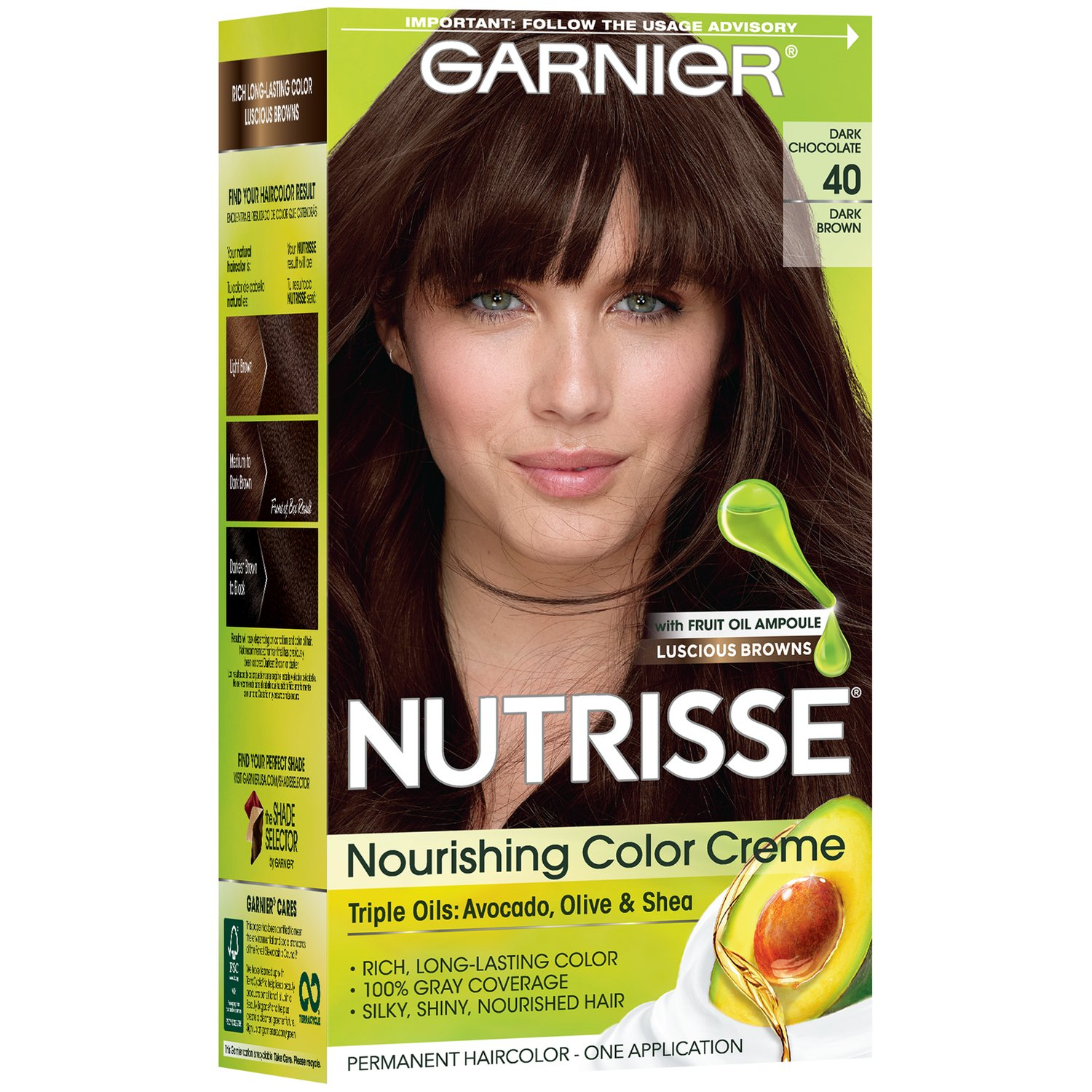 Garnier Nutrisse Nourishing Hair Color Creme 40 Dark Brown Dark Chocolate Shop Hair Color At H E B,Blue And White Porcelain Decorating Ideas