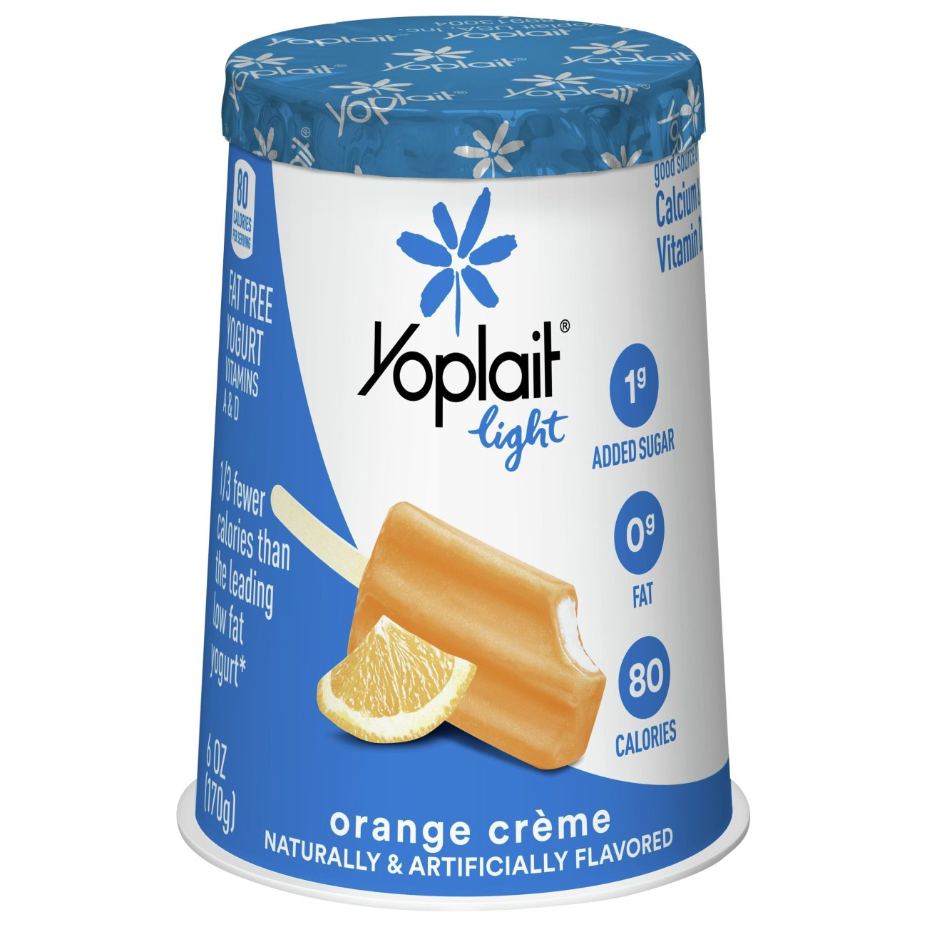Yoplait Light Fat Free Yogurt, Orange