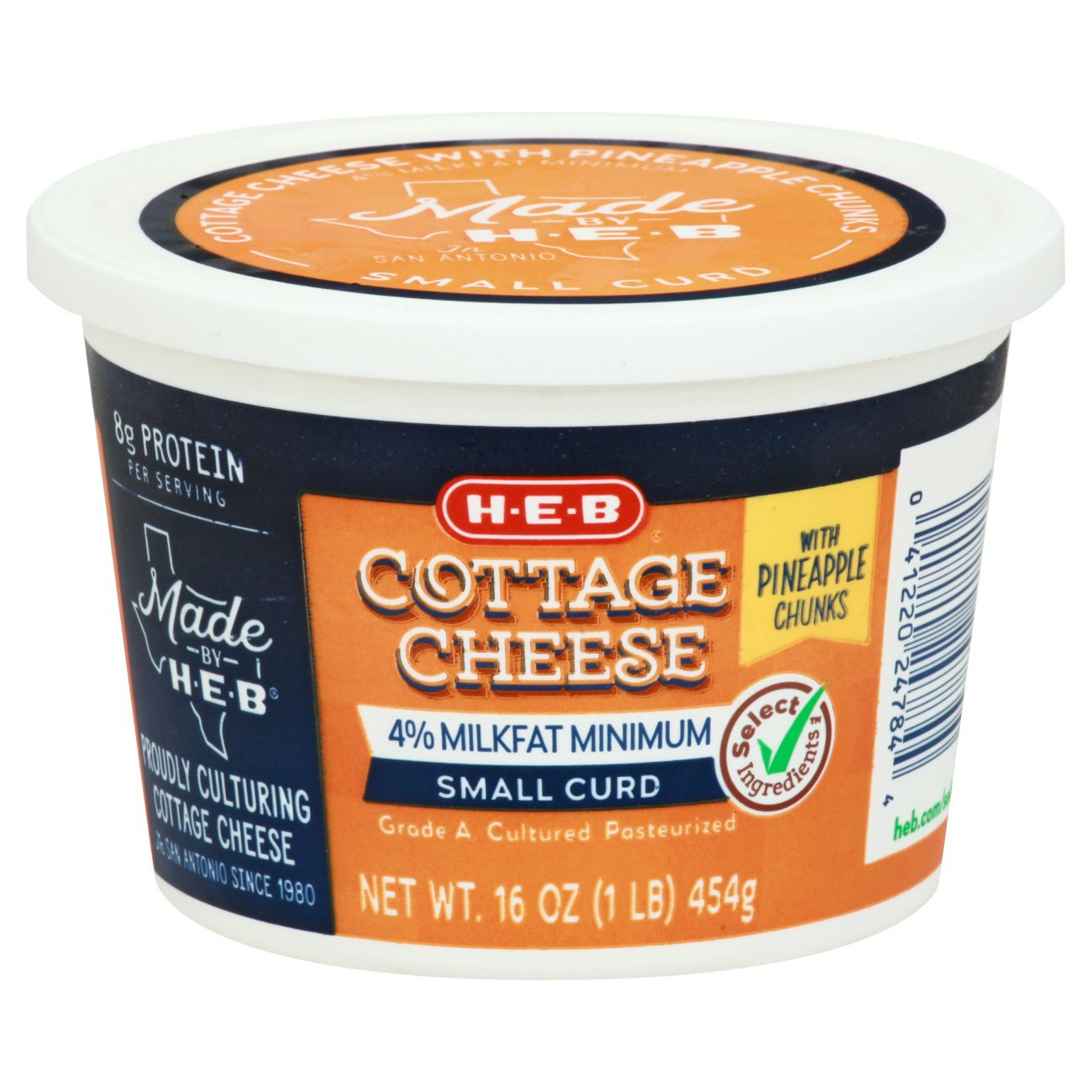HEB Cottage Cheese With Pineapple Chunks Shop Cottage Cheese at HEB