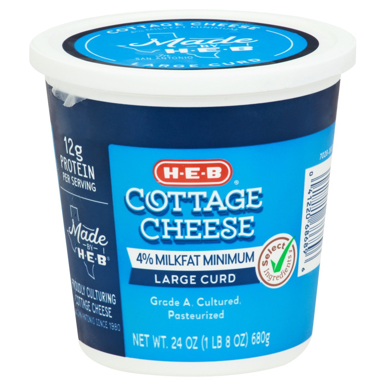 H-E-B Select Ingredients Large Curd Cottage Cheese - Shop ...