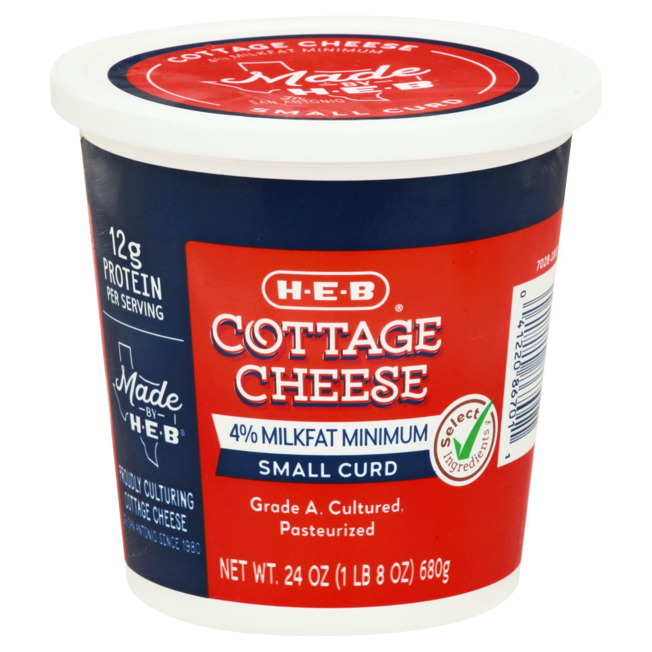 H E B Small Curd Cottage Cheese