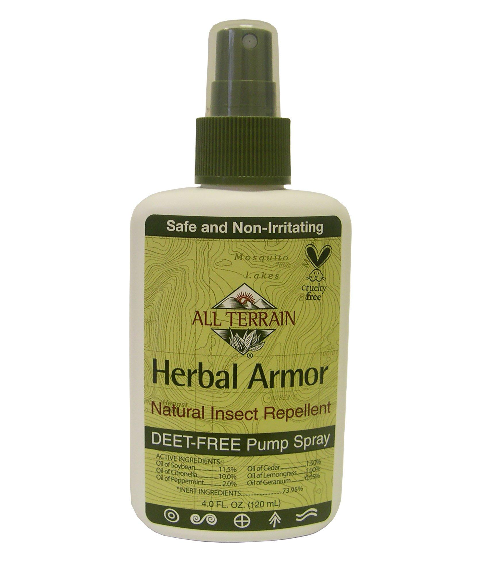 all terrain herbal armor deet free insect repellent pump spray