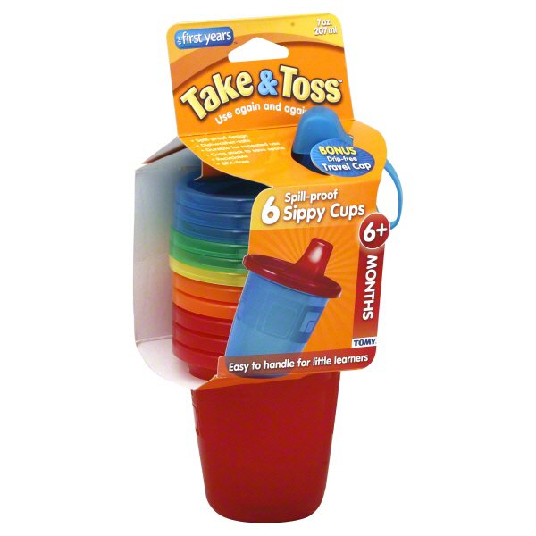 Pack of 4 The First Years Take /& Toss Spill Proof Straw Cups 10 Ounce