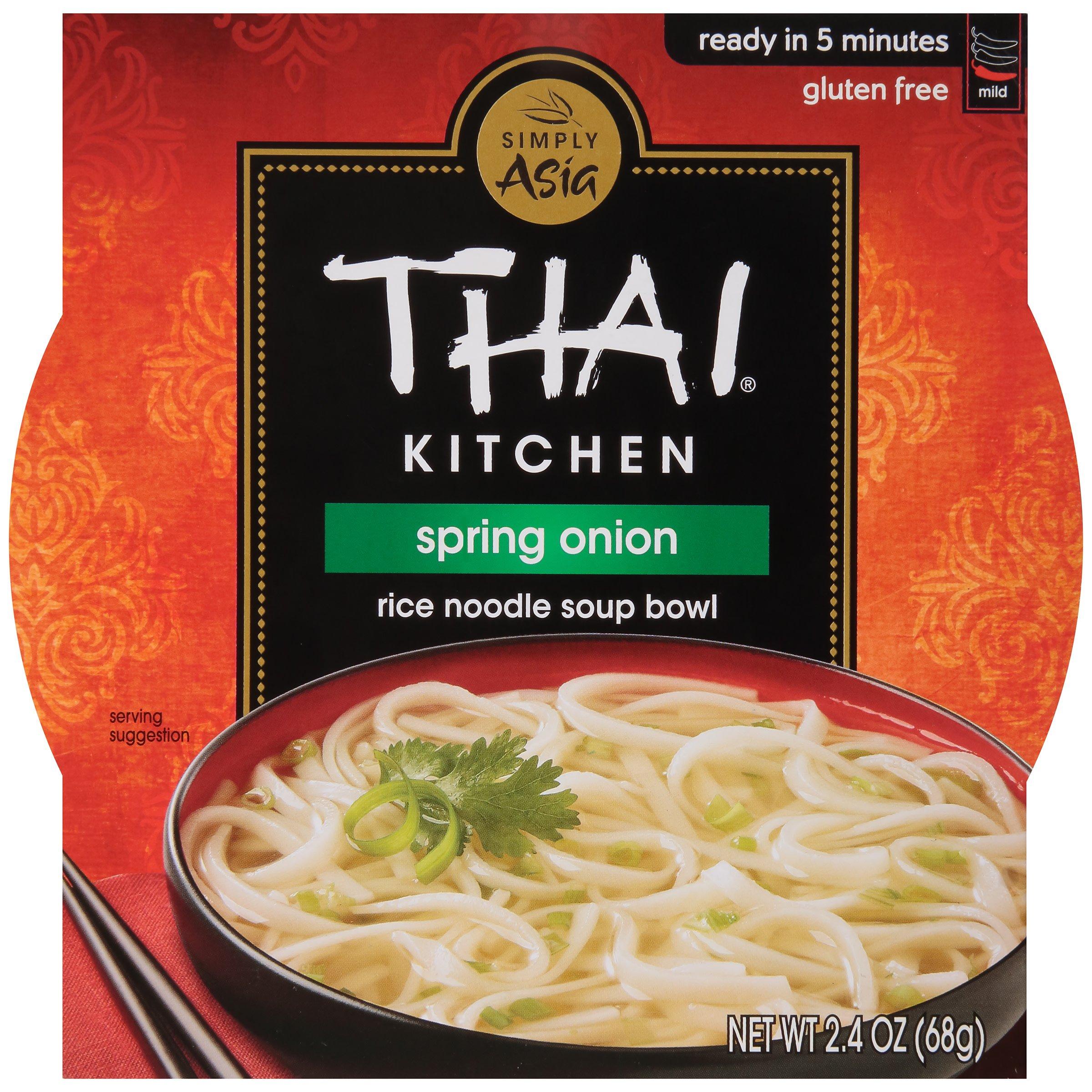 Thai Kitchen Spring Onion Rice Noodle Bowl Shop Soups Chili At H E B