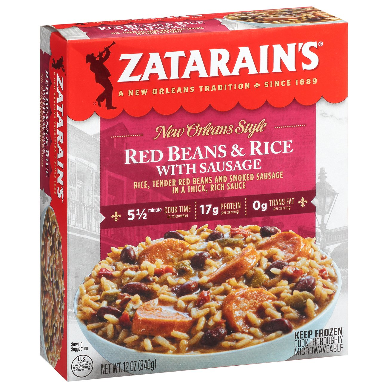 Zatarain S Red Beans Rice With Sausage Shop Entrees Sides At H E B