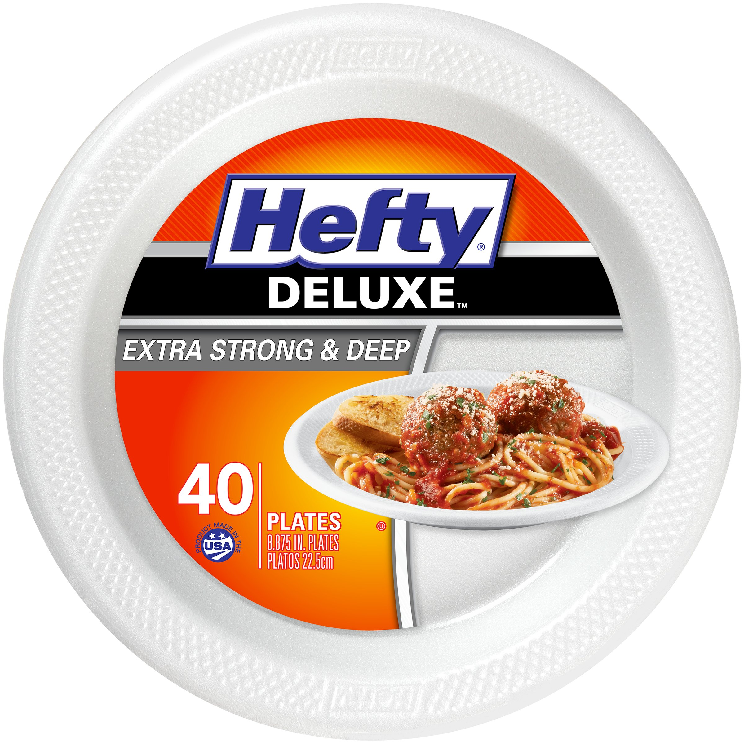 Hefty Deluxe Extra Strong And Deep 8.875 Inch Polypropylene Plates - Shop Disposable Tableware at HEB  sc 1 st  HEB.com & Hefty Deluxe Extra Strong And Deep 8.875 Inch Polypropylene Plates ...