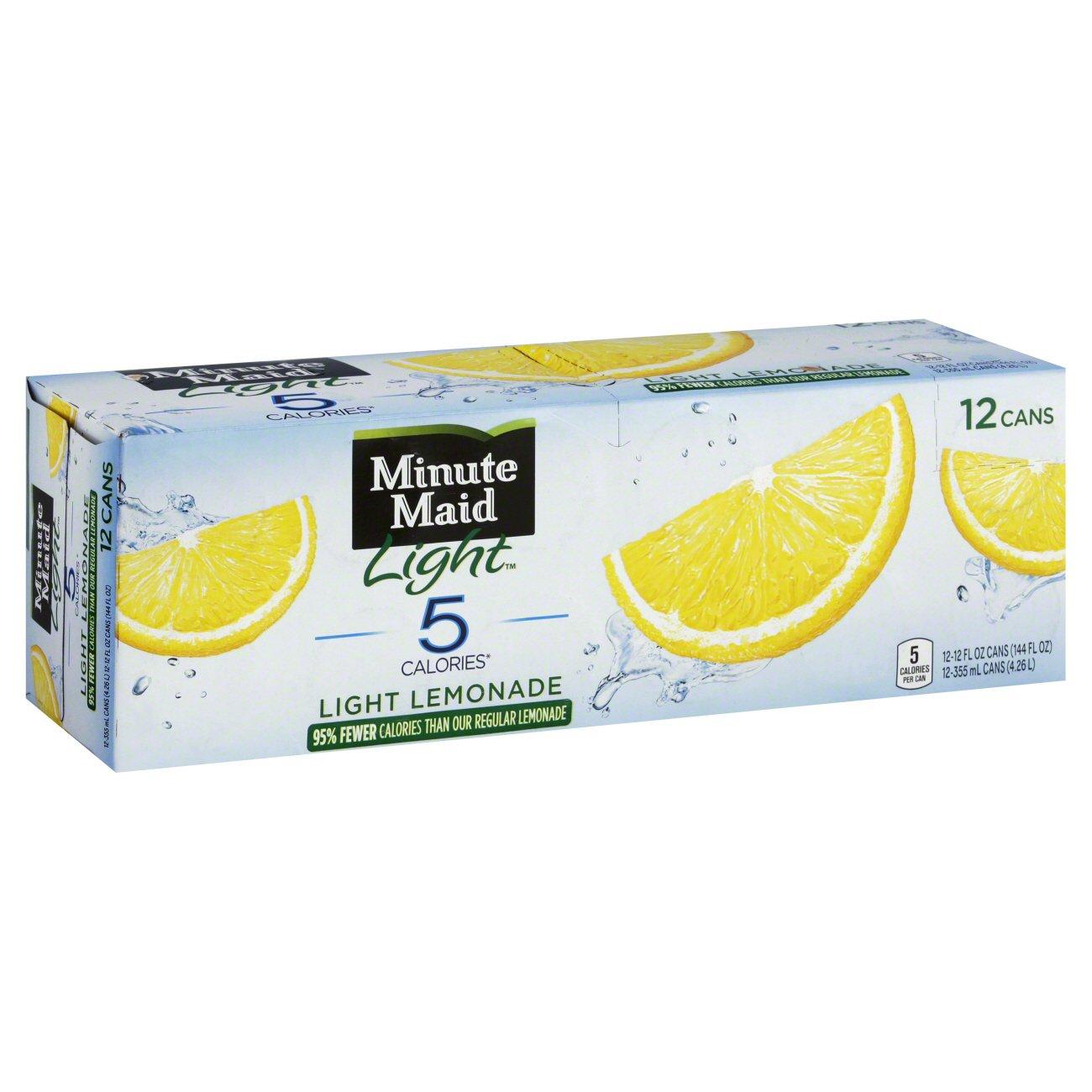 Minute Maid Light Lemonade 12 Oz Cans   Shop Juice At HEB