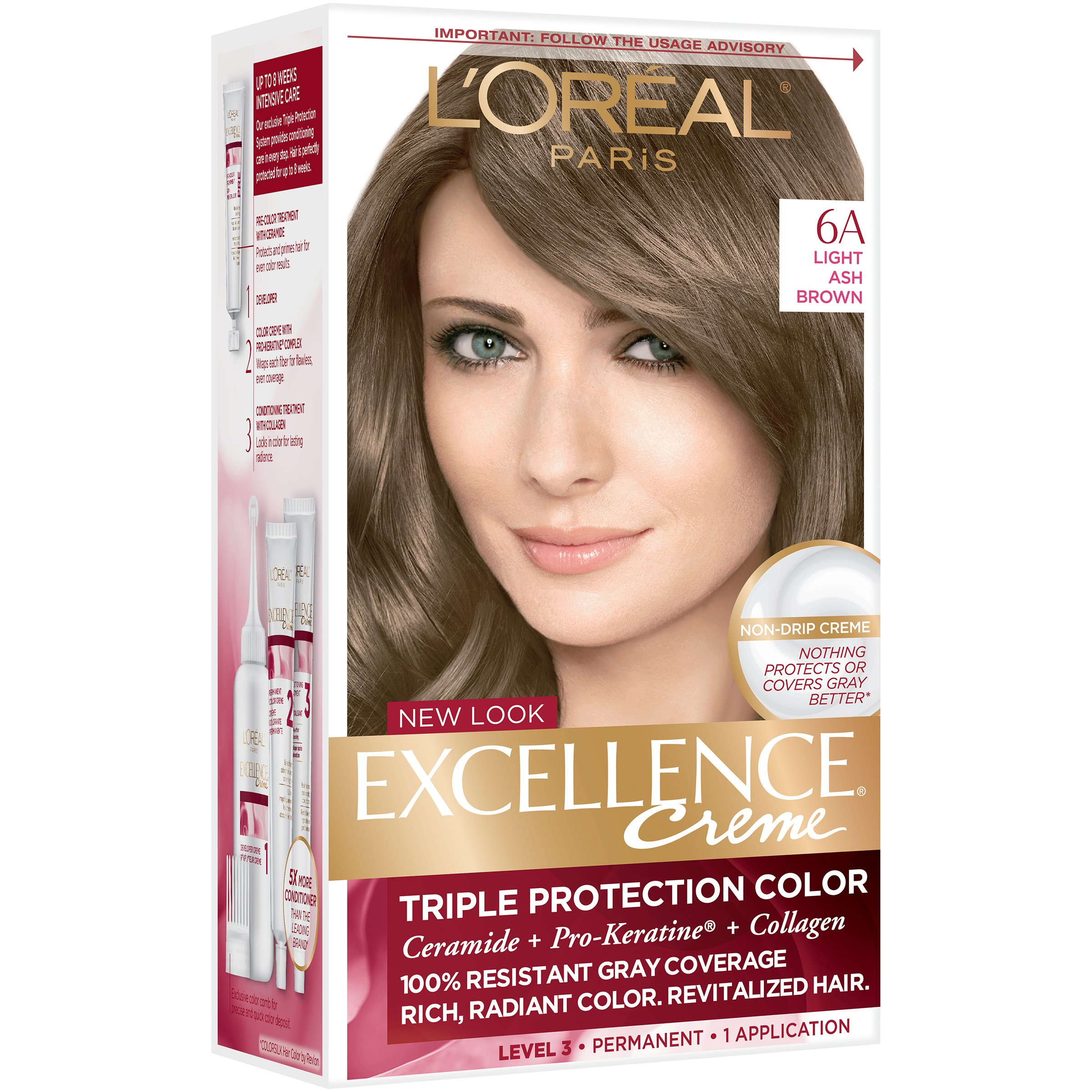 light by brown and ash color hair balayage salah dye ligh lighting
