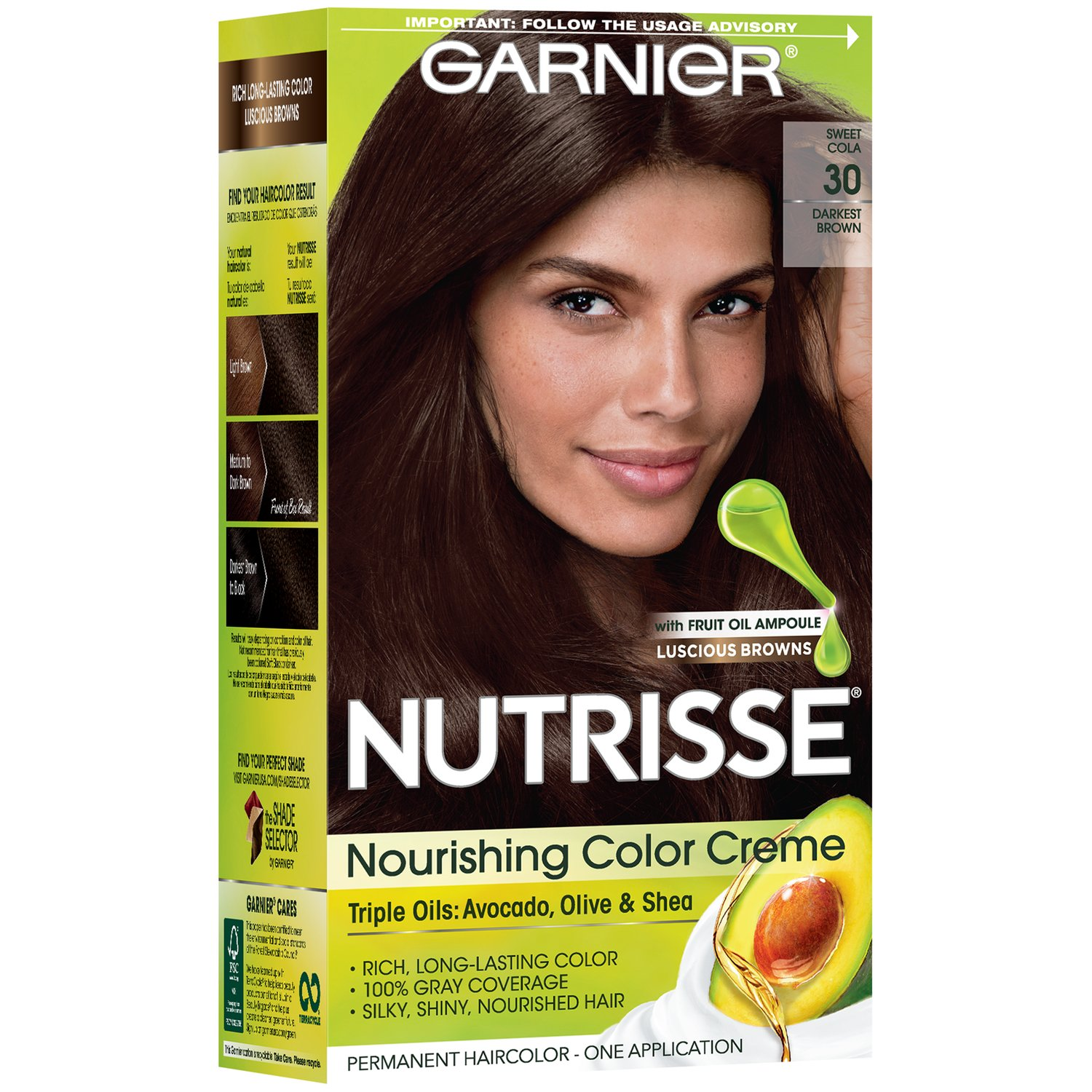 Hair color shop heb everyday low prices online garnier nutrisse nourishing color creme 30 darkest brown sweet cola nvjuhfo Image collections