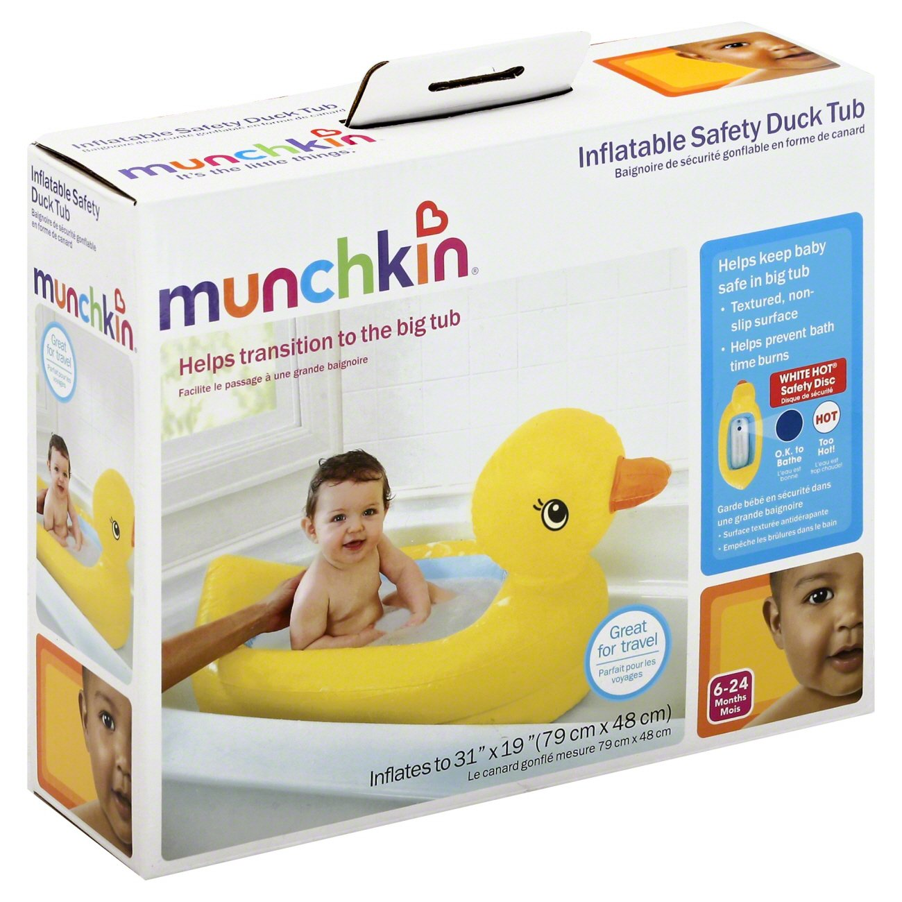 Munchkin Inflatable Safety Duck Tub - Shop Bath Toys at HEB